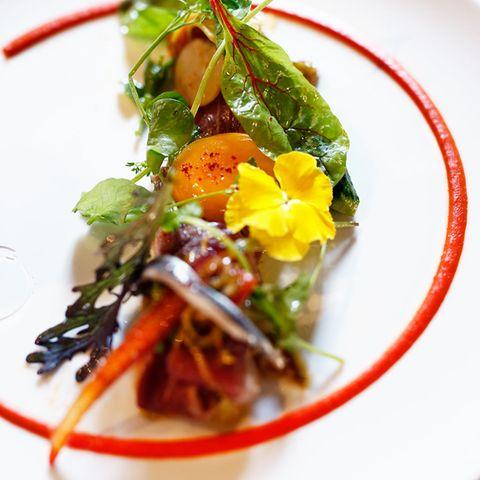 Rinderfilet mit Markt-Salat