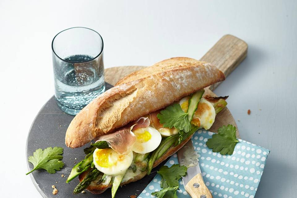Spargel-Schinken-Sandwich  Rezept