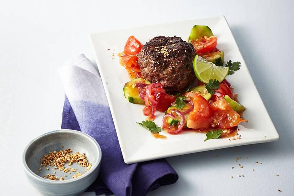 Beefsteaks mit süßsaurem Gemüse  Rezept