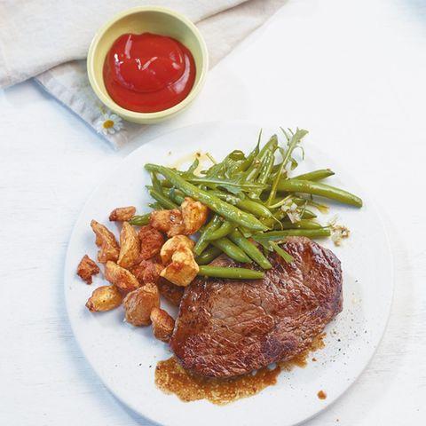 Bohnen-Rauke-Salat