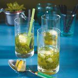 Basilikum-Minz-Drink