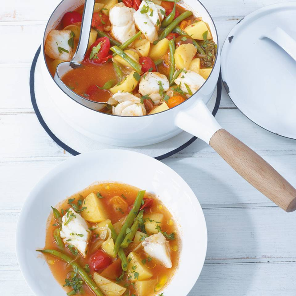 Bohnen-Tomaten-Eintopf  Rezept