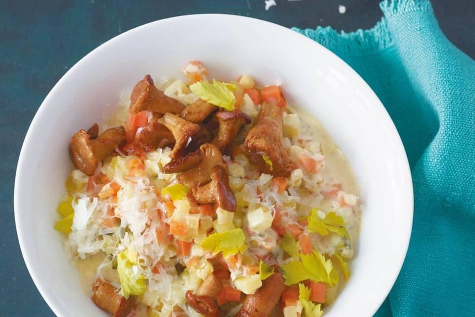 Gemüse-Risotto mit Pfifferlingen  Rezept