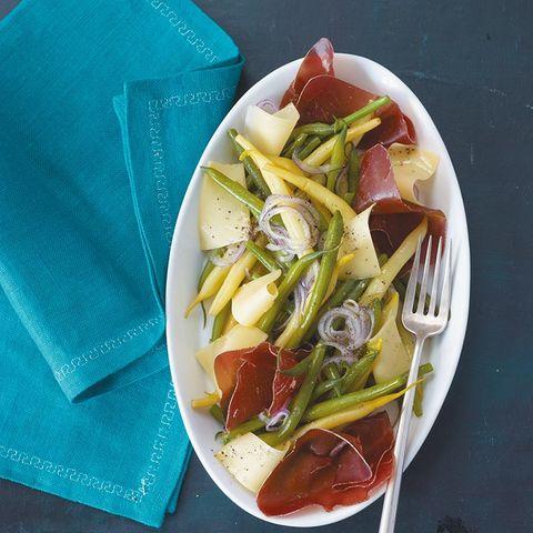 Bohnensalat mit Bündner Fleisch