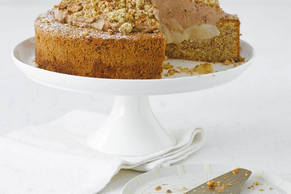 Mandel-Birnen-Torte  Rezept