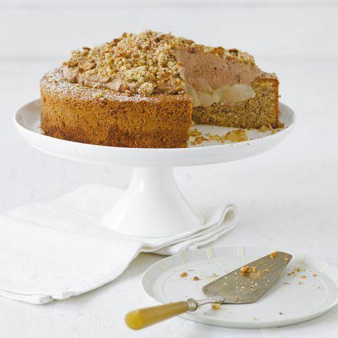 Mandel-Birnen-Torte