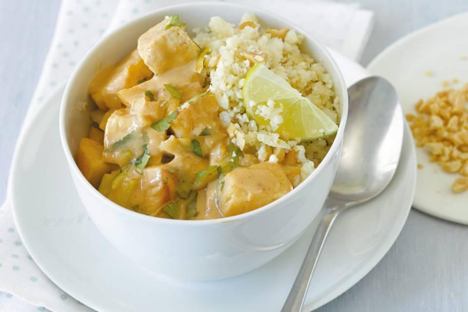 Erdnuss-Tofu-Curry  Rezept