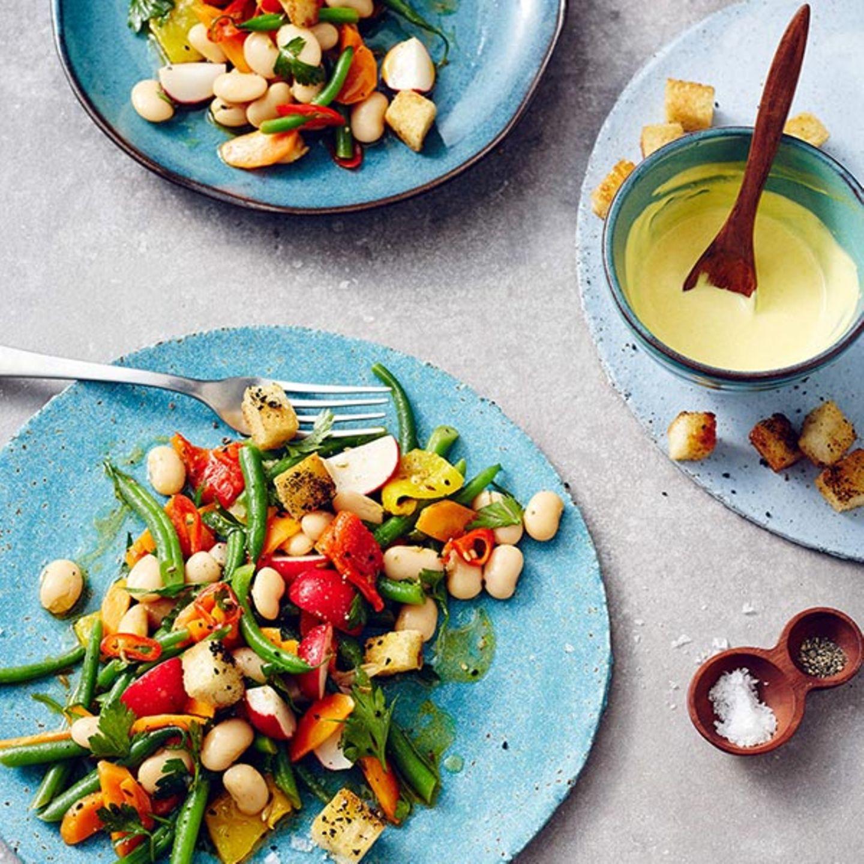 Bohnensalat mit Orangen-Angostura-Dressing