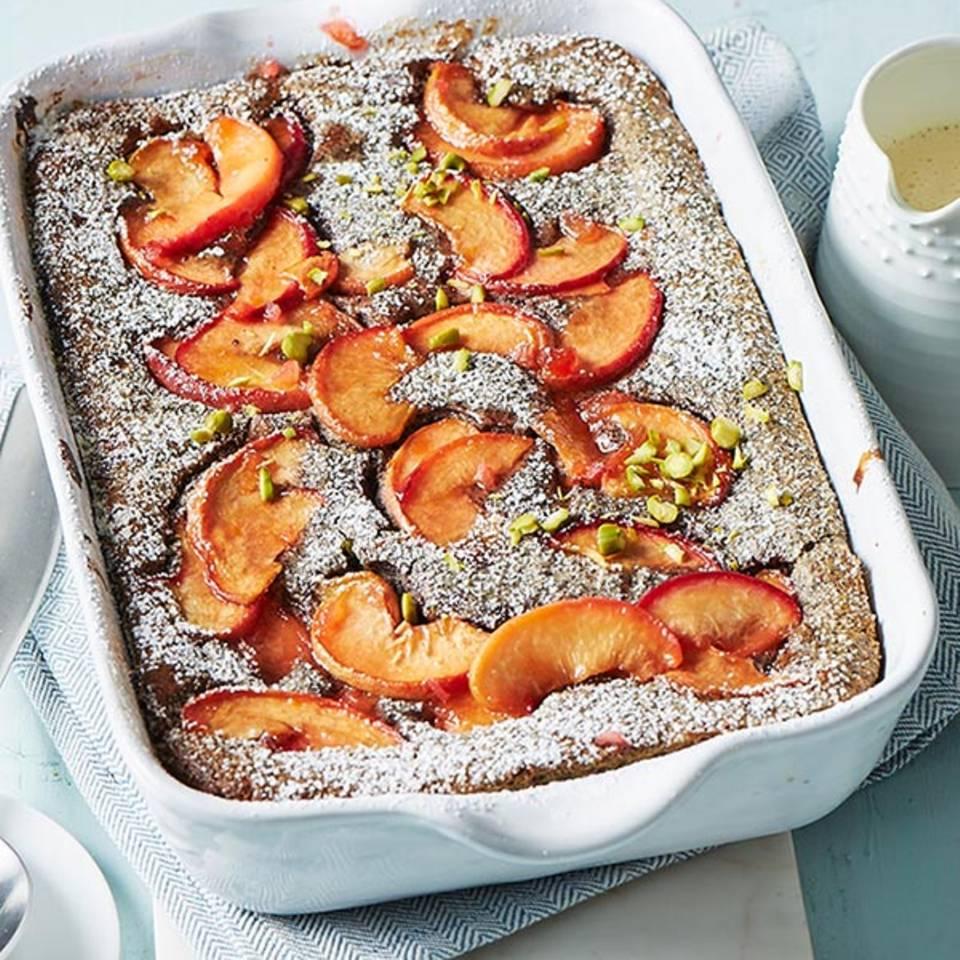 Mohnauflauf mit Pfirsichen  Rezept