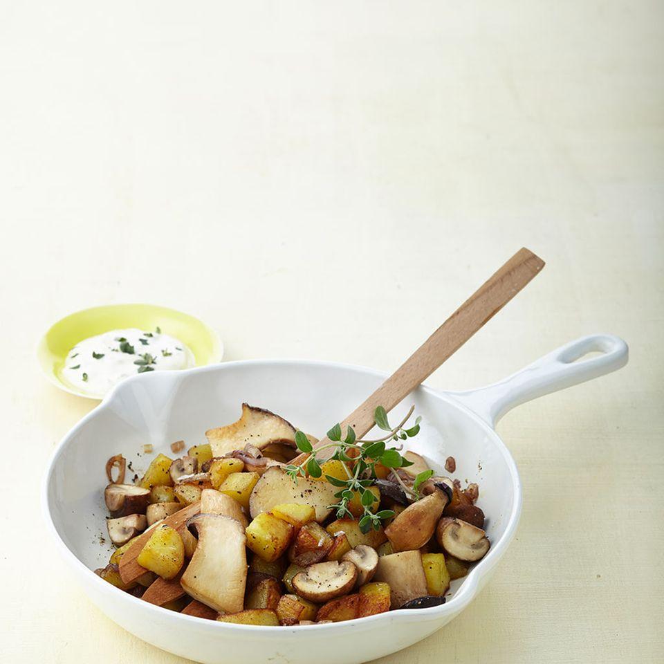 Pilz-Kartoffel-Gröstl