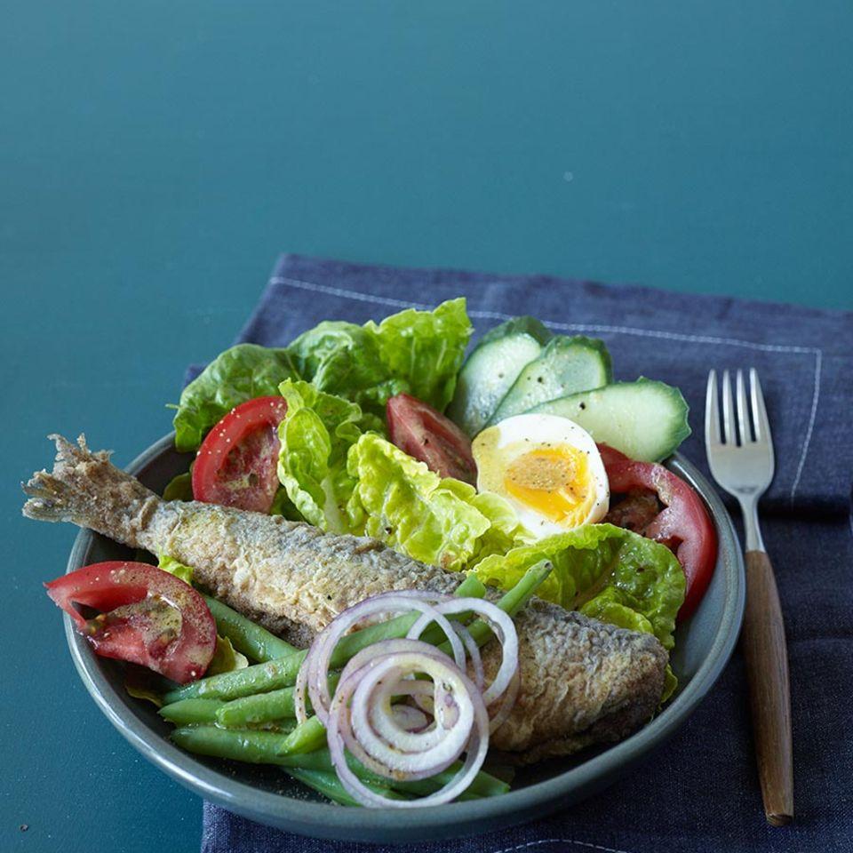 Salat mit Brathering