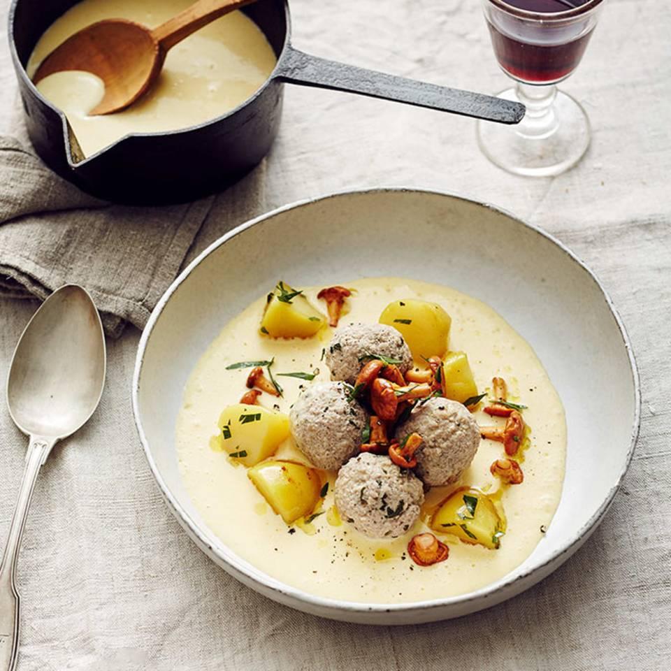 Kartoffeln mit Pfifferlingen  Rezept