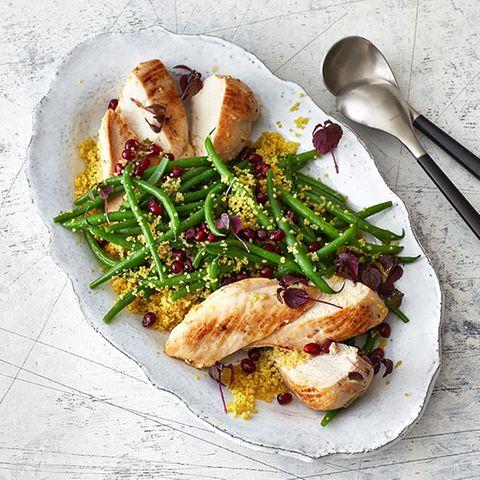 Poulardenbrust mit Curry-Couscous