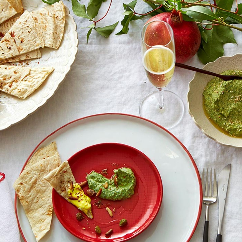 Grünes Hummus