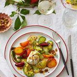 Orientalischer Gemüsesalat mit Labneh