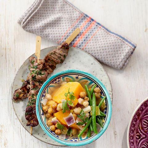 Kichererbseneintopf mit Kebab