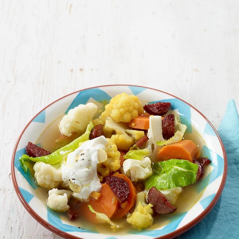 Süßkartoffel-Blumenkohl-Eintopf  Rezept