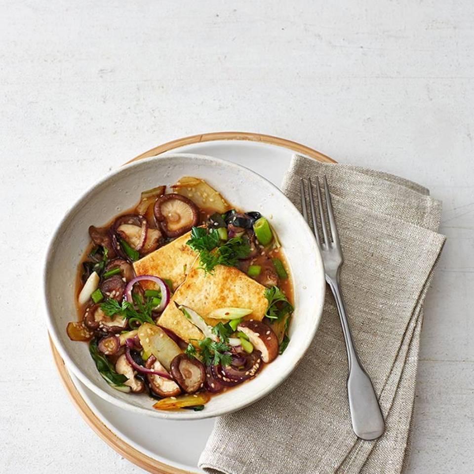 Tofu und Gemüse im Miso-Sud  Rezept