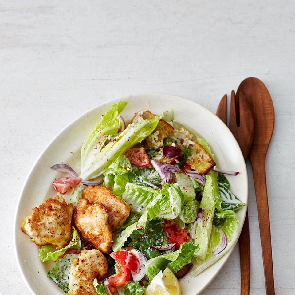 Chicken Piccata mit Römersalat
