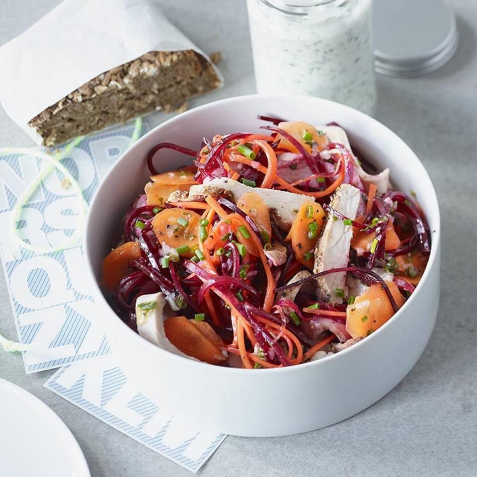 Gemüse-Braten-Salat  Rezept