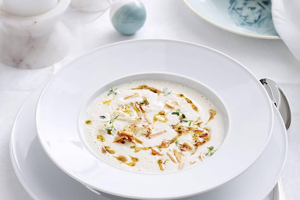 Blumenkohl-Mandel-Suppe  Rezept