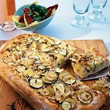 Focaccia Pugliese mit Kartoffeln und Zucchini