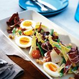 Radicchio-Zuckerschoten-Salat