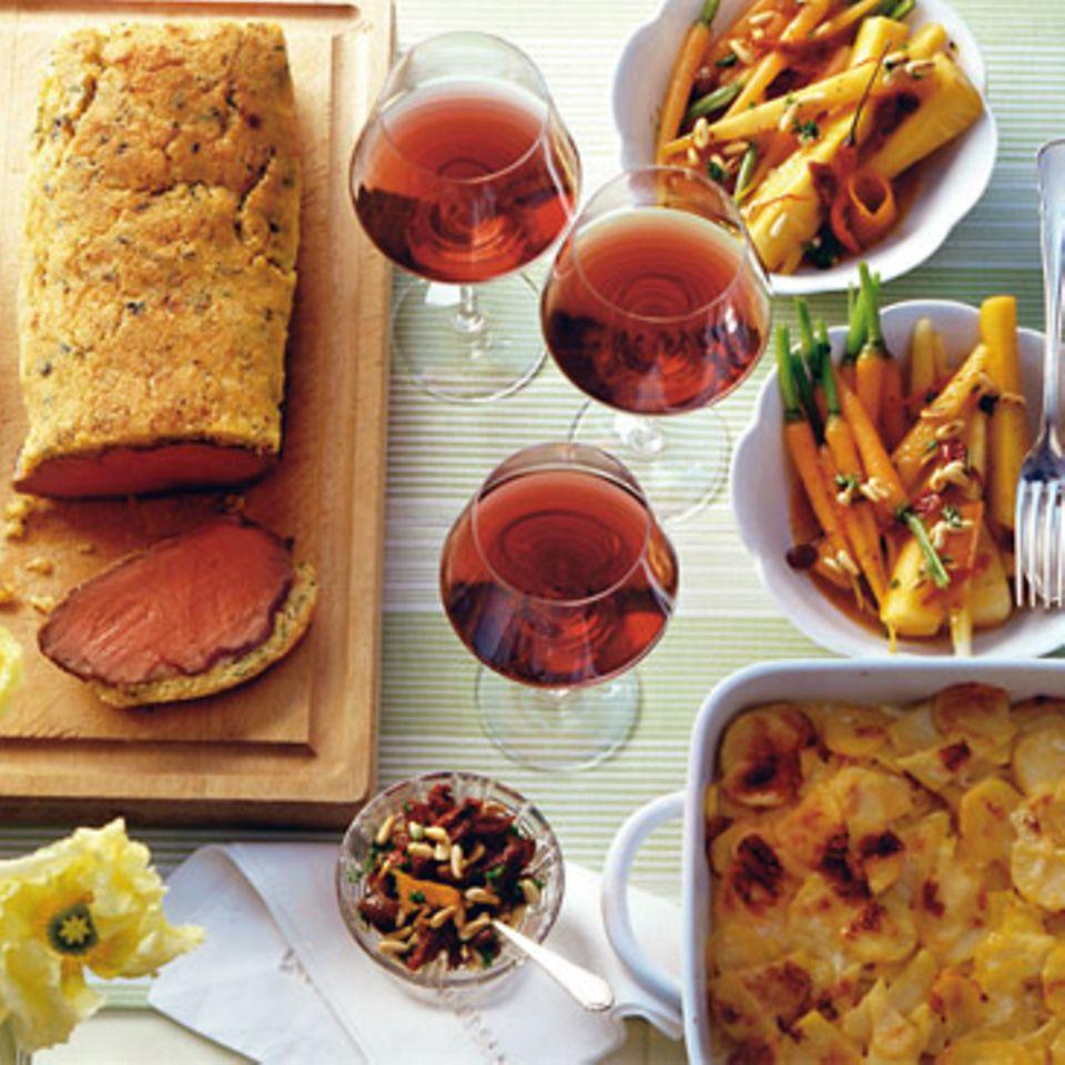 Kartoffelgratin mit Weißwein