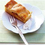 Safran-Apfelkuchen vom Blech
