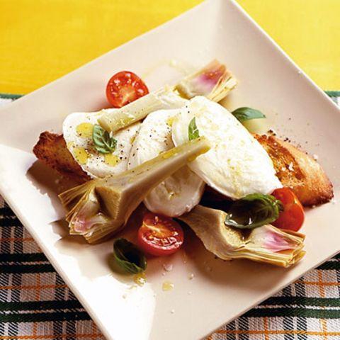 Olivenöl-Crostini mit Mozzarella