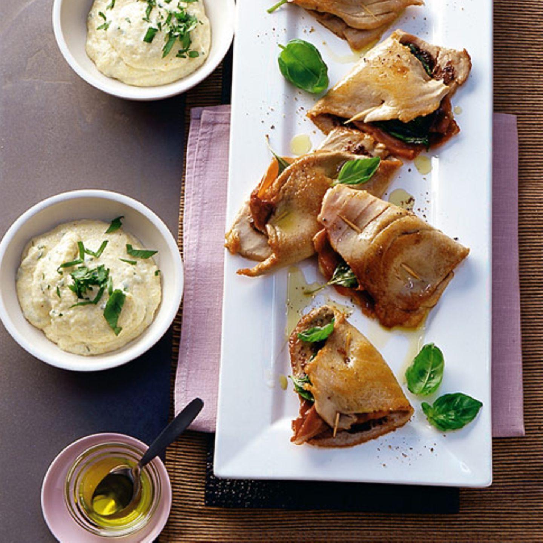 Thunfisch-Saltimbocca mit Polenta
