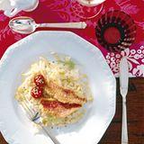 Rotbarben mit Risotto und Fenchel