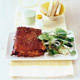 Asia-Pork mit Guacamole-Salat