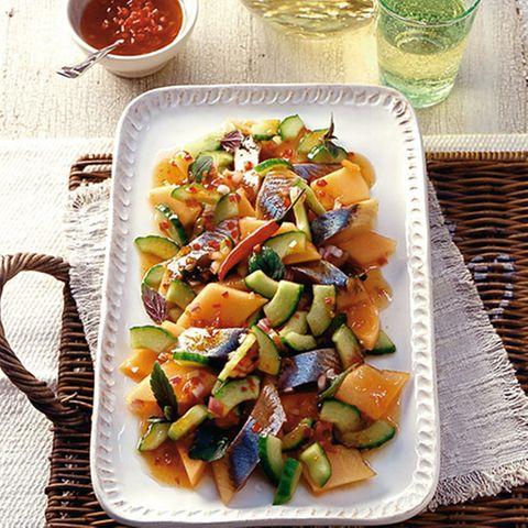 Matjessalat mit Melone