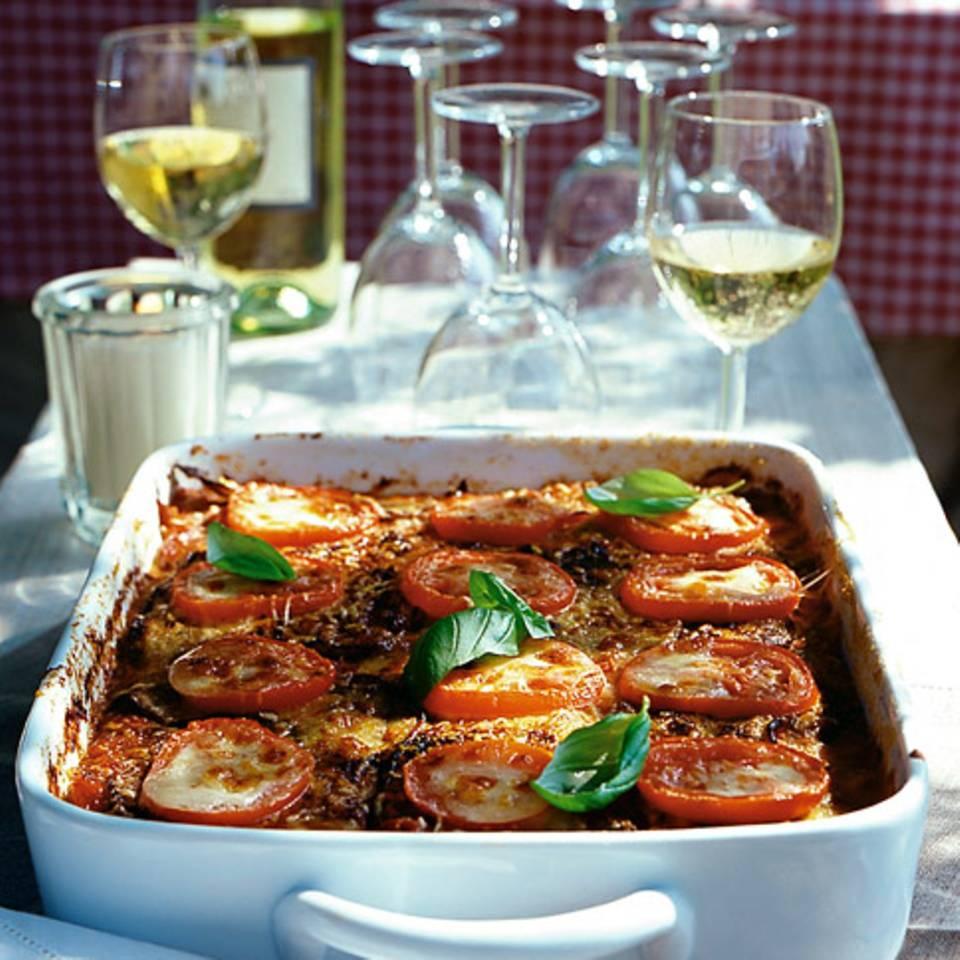 Auberginen-Tomaten-Auflauf mit Mozzarella Rezept