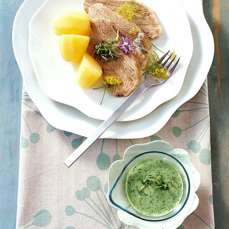 Kalbstafelspitz in Dillsud mit grüner Sauce Rezept