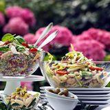 Nudelsalat mit Paprika und weißen Bohnen