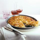 Apfel-Mozzarella-Tarte