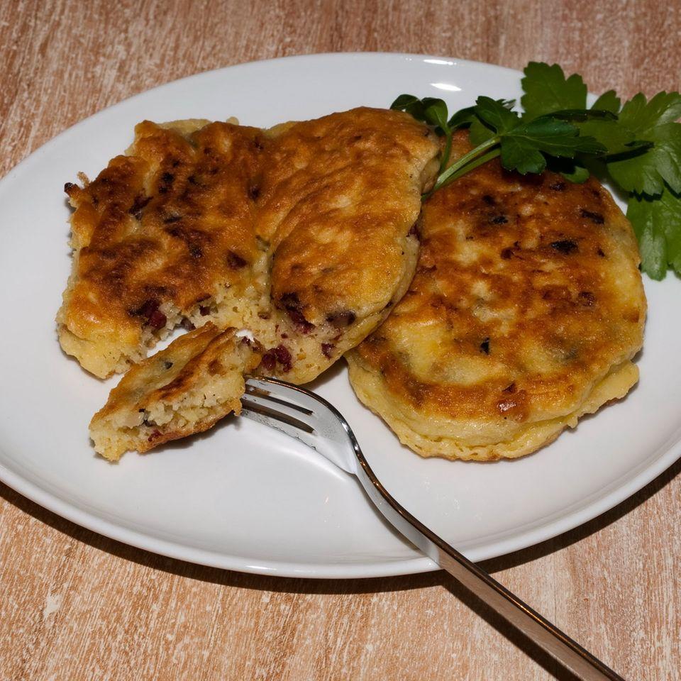 Kartoffel-Blutwurst-Pfannkuchen