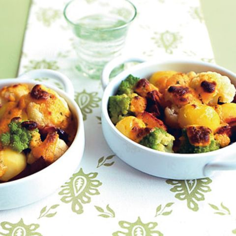 Gemüsegratin mit Sauce Choron
