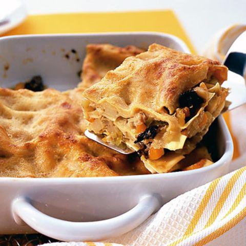 Schwarzwurzel-Lasagne mit Morcheln