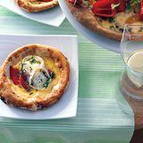 Tartelettes mit Tomaten und Ziegenkäse