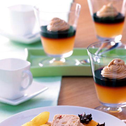 Apfel-Kaffee-Gelee mit Karamellcreme