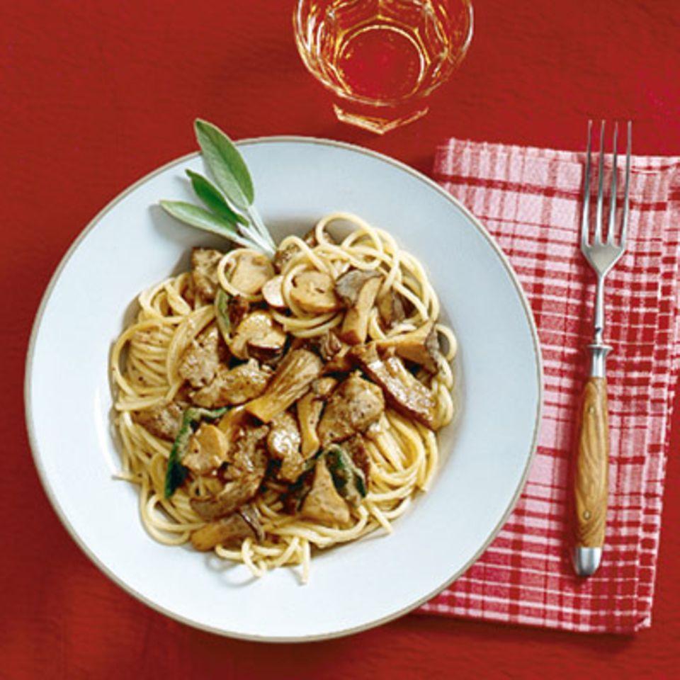 Spaghetti mit Kalbsleberragout