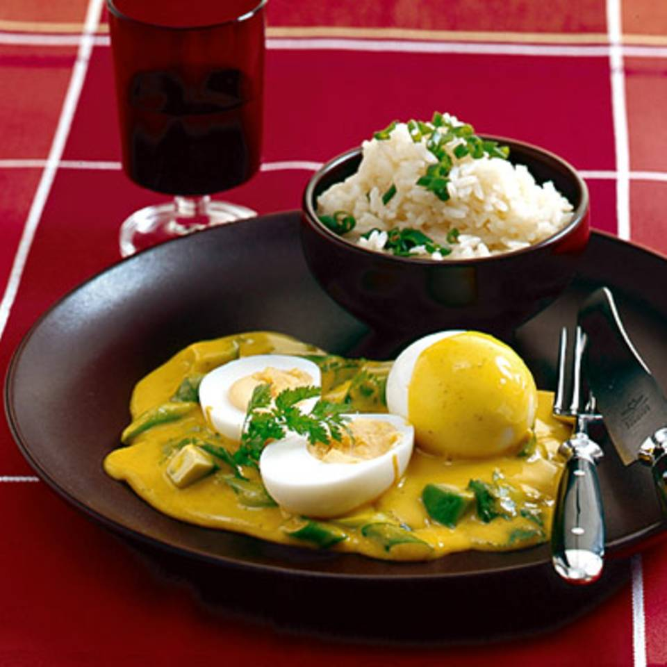 Curry-Eier Rezept