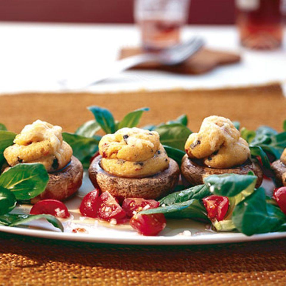 Gefüllte Champignons mit Polenta