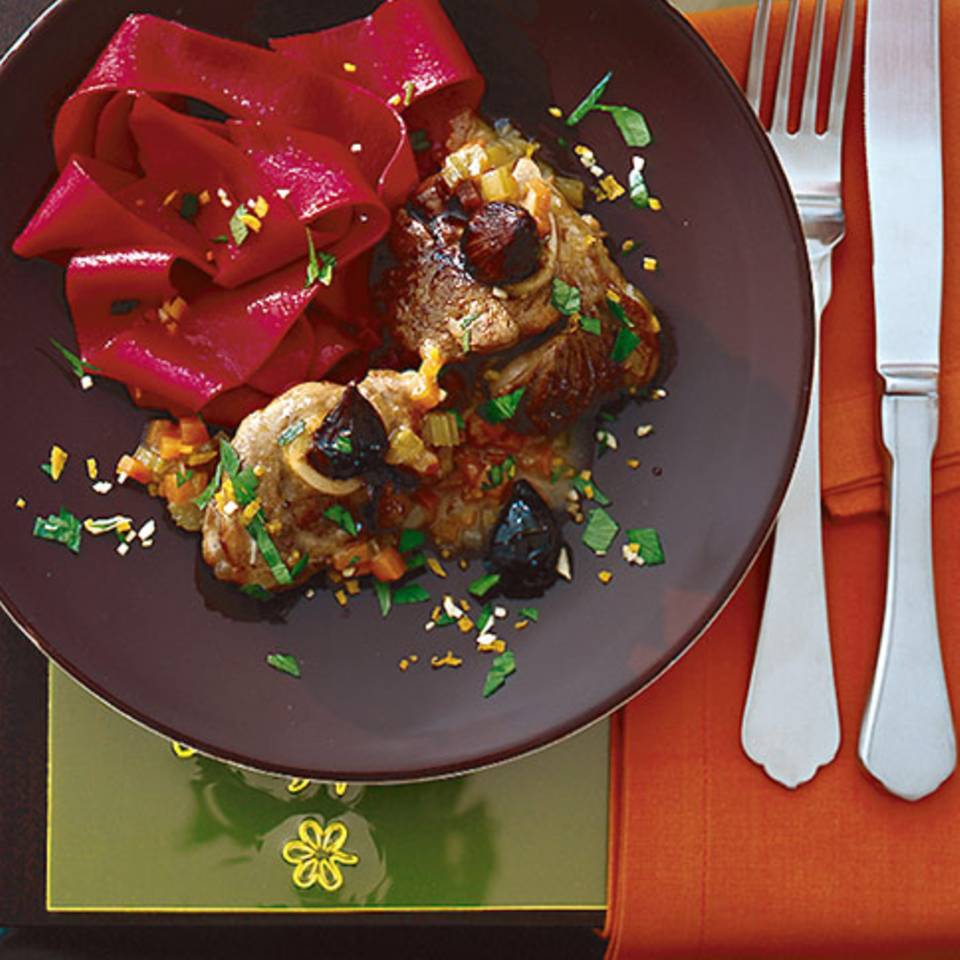 Rote-Bete-Pappardelle Rezept