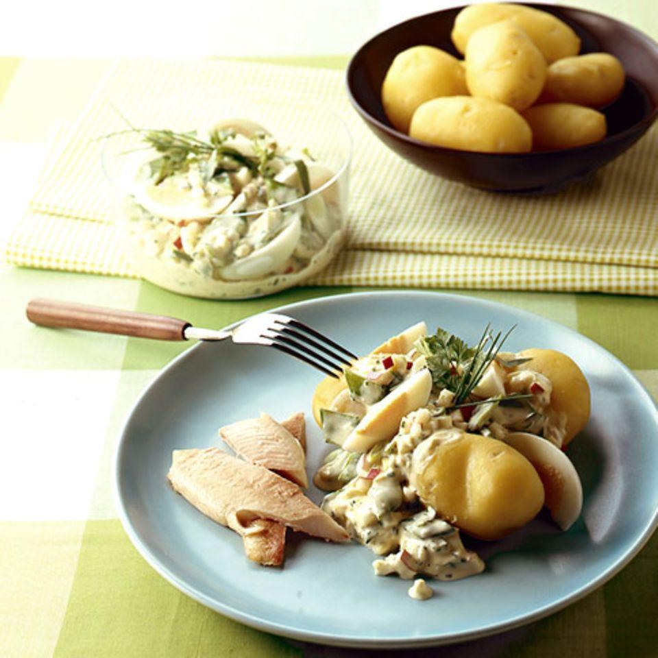Kräuter-Ei-Remoulade mit Apfel