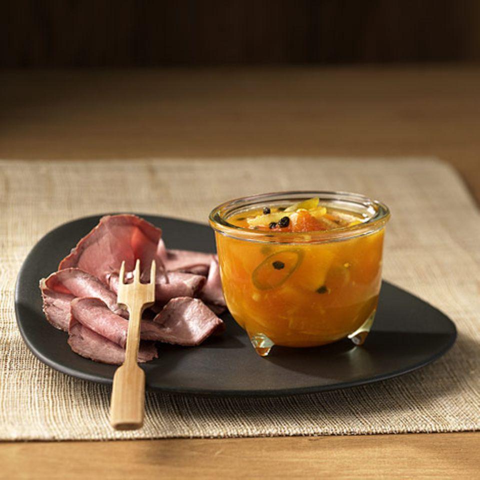 Orangen-Papaya-Chutney