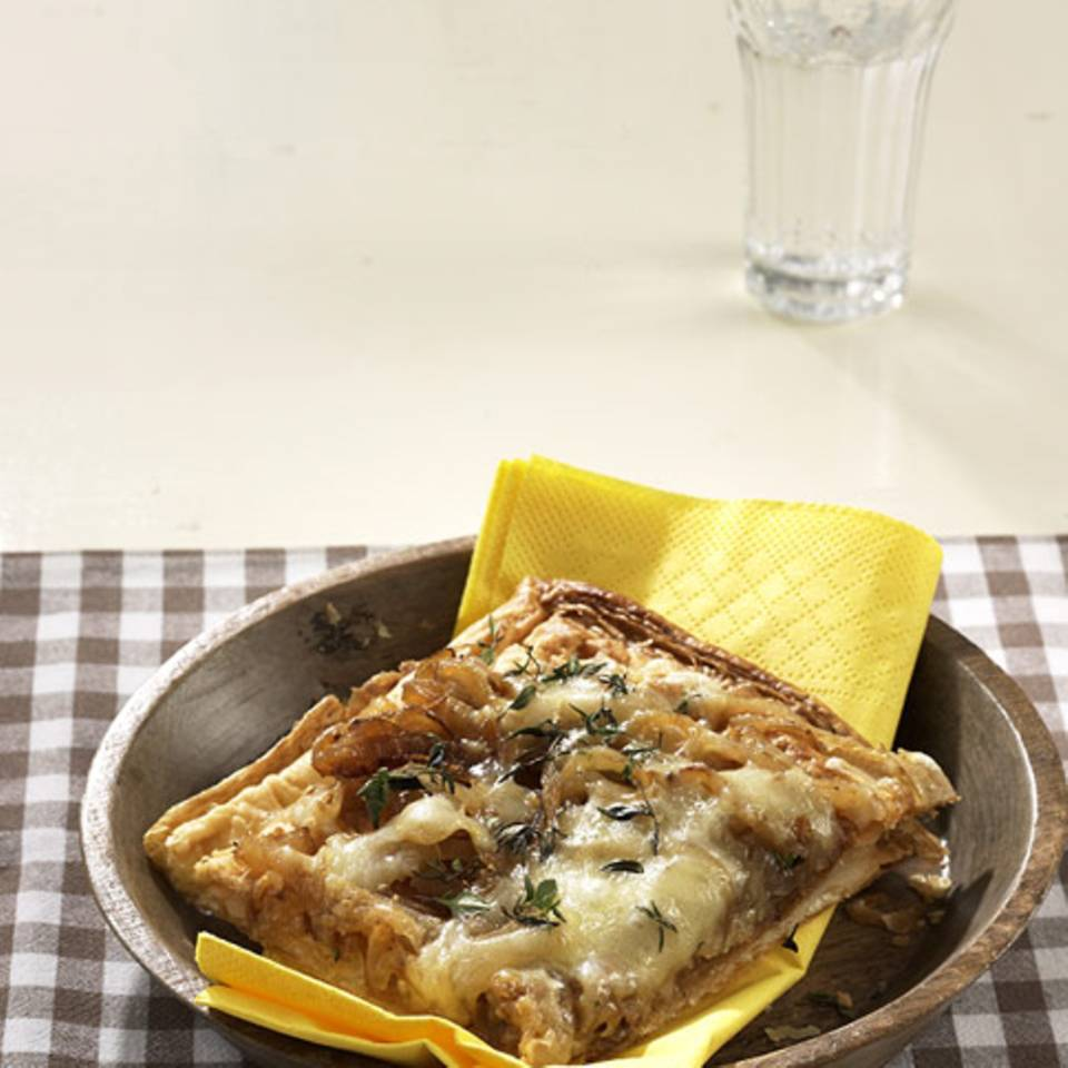Käse-Zwiebel-Tarte Rezept